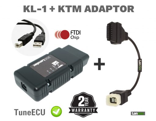 Genuine FTDI UK Manufactured KTM Interface Cable Lead Kit Tuneecu Remapping Diagnostics